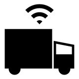 Driverless lastbilsymbol Royaltyfri Foto