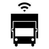 Driverless lastbilsymbol Arkivbild