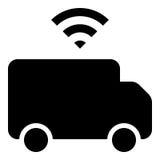 Driverless lastbilsymbol Royaltyfri Bild