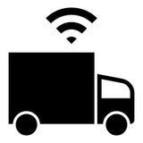 Driverless lastbilsymbol Royaltyfria Bilder