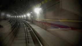 Driverless underground railway stock footage