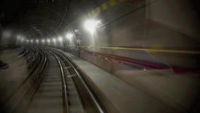 Driverless underground railway stock footage