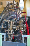 Drivers cab of a steam engine Royalty Free Stock Photo