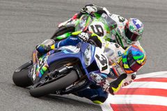 Drivers Carmelo Morales and Kenny Noyes. FIM CEV Repsol. Barcelona, Spain. 22 June 2014. Drivers Carmelo Morales and Kenny Noyes. FIM CEV Repsol International Stock Images