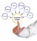 Drivers of Customer Loyalty. Six Drivers of Customer Loyalty stock image