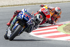 Drivers Jorge Lorenzo and Marc Marquez. Royalty Free Stock Photo
