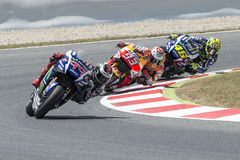 Drivers Jorge Lorenzo,Marc Marquez and Rossi. Royalty Free Stock Photography