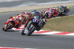 Drivers Jorge Lorenzo, Marquez and Pedrosa. Royalty Free Stock Photos