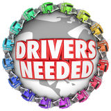 Drivers Needed Trucks Around World International Trucker Hiring Royalty Free Stock Photography