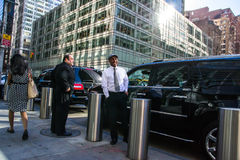 Drivers in new york Stock Photo