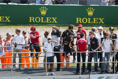 Drivers parade at Formula one, Monza Grand Prix 2014. Stock Photos