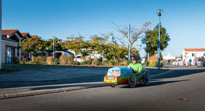 Drivers pedal car for a traditional race Royalty Free Stock Photography