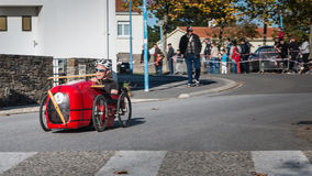 Drivers pedal car for a traditional race Stock Images