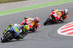 Drivers, Rosi, Pedrosa, Marquez. MotoGP Royalty Free Stock Image