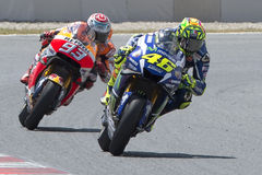 Drivers Valentino Rossi and Marc Marquez Royalty Free Stock Image