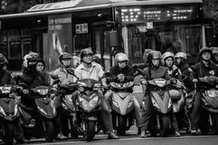 Drivers waiting in Taipei Stock Photography