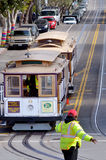 Drivers and workers of Powell-Hyde line cable car in San Francis Stock Photo