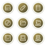Drives and storage web icons Stock Photography