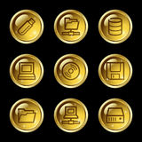 Drives and storage web icons Royalty Free Stock Photography