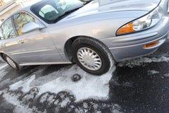 driveway αυτοκινήτων που αλατί&zeta στοκ φωτογραφία