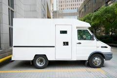 Driveway de Van Parked, Changhaï, Chine de véhicule blindé Photographie stock