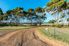 Driveway into a farming property Stock Images