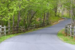 Driveway with Fences Royalty Free Stock Images