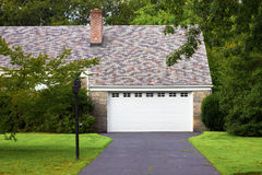 Driveway and Garage royalty free stock photo