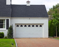 Driveway and Garage Royalty Free Stock Photos