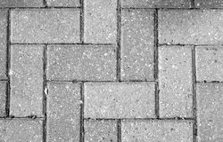 Driveway Interlocking. Interlocking stones of a driveway in Ontario, Canada Stock Photo