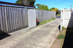 Driveway in suburbia Royalty Free Stock Image