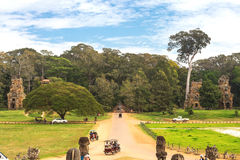 Driveway to Royal Palace in Angkor Thom, Cambodia. Stock Images