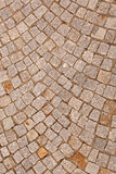 A driveway was paved with road stones Royalty Free Stock Photo