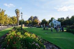 Drivhusträdgårdar i Bendigo, Australien Arkivbild