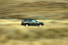Driving. Car in motion Royalty Free Stock Images