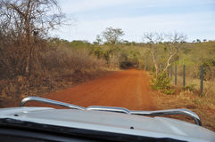 Driving a 4x4 in Africa Royalty Free Stock Photo