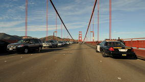 Driving Across the Golden Gate Bridge San Francisco stock footage