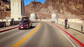 Driving Across the Hoover Dam Royalty Free Stock Images