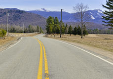 Driving in the Adirondacks, New York State Royalty Free Stock Photo