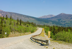 Driving the alaska highway in the springtime Stock Images