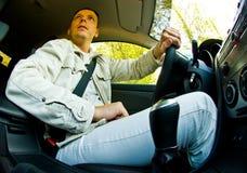 Driving Alone Stock Photo