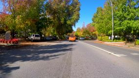 Free Driving Along Beautiful Autumn Tree Lined Streets Of Stirling, South Australia. Royalty Free Stock Photo - 120263805