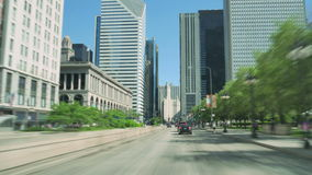 Driving Along the Golden Mile at Michigan Avenue in Chicago stock video footage