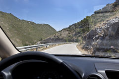 Driving along royalty free stock photography
