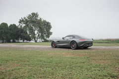 Driving the amg gt s 2 Stock Photo