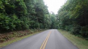 Driving through the appalachians in the summertime stock footage