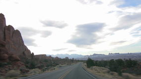 Driving Through Arches National Park 01 stock video footage
