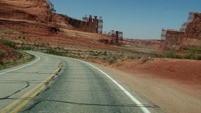 Driving in Arches National Park Utah - Time Lapse. Time lapse of Driving in Arches National Park Utah stock video