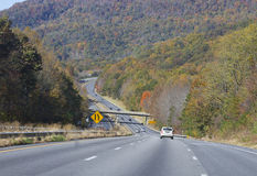 Driving Through Autumn Mountains Stock Photography