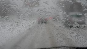 Driving in a bad weather condition stock video footage